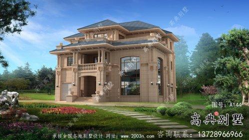 乡村意大利风格三层欧式别墅设计图大