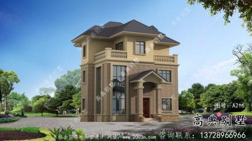 三层简欧式别墅外观效果图