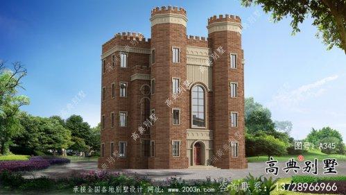 新潮五层西式城堡别墅,平屋顶别墅设