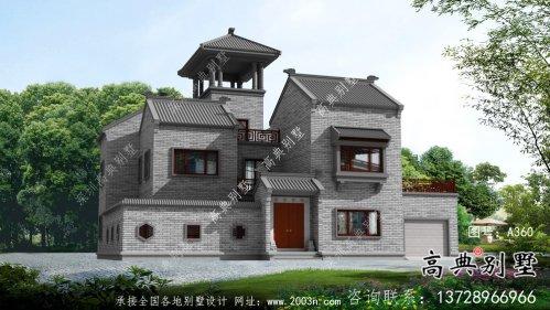 大气中式院子别墅设计效果图(建筑+结构