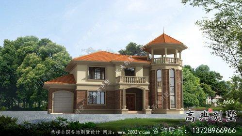 农村自建复式二层欧式别墅设计图纸及施工图