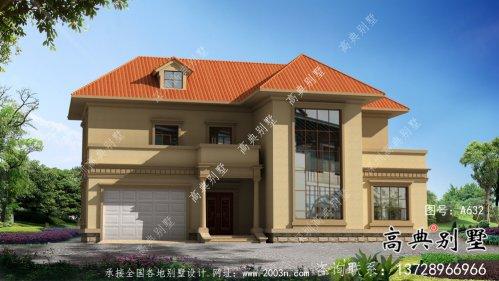 乡村欧式古典二层别墅设计图纸