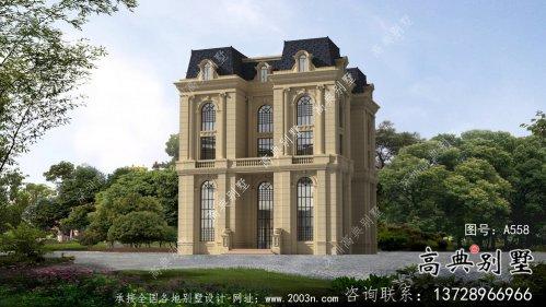 外观朴素大方法式风格,精致的别墅建