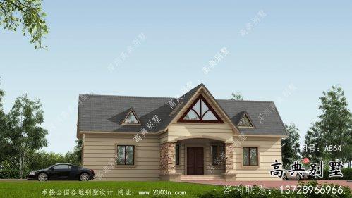 美式风格二层欧式别墅外观效果图