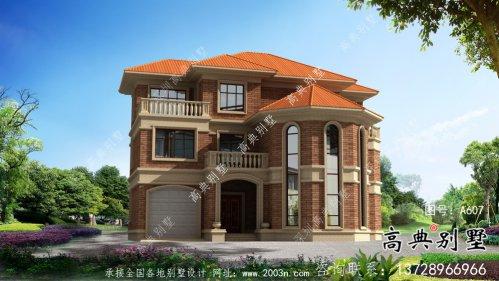 欧式古典小复式三层别墅设计图含设计效果图