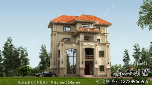 复式四层欧式别墅设计图纸及施工图纸