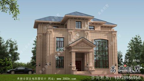 欧式三层意大利风格别墅设计图纸