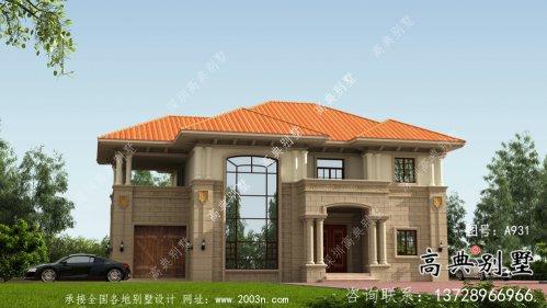 两层农村意大利风格住宅设计图包括结