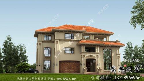 实用的意大利风格三层农村别墅设计图