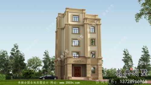 五层平屋顶豪华别墅设计图