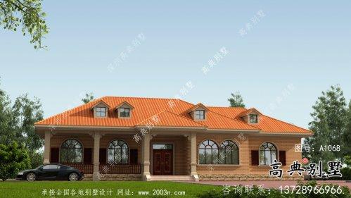 欧式风格一层大气别墅设计图纸