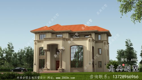 复式欧式风格别墅效果图设计图