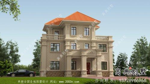 欧式三层别墅平面设计