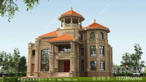 欧式三层超豪华纯石材复式别墅设计图纸