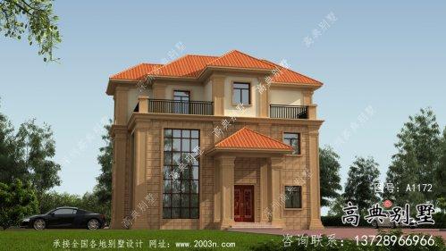 农村欧式三层复式别墅设计图纸