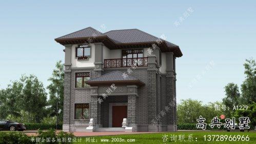 中式别墅三层建筑设计图纸
