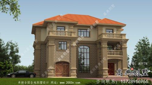 坡屋顶欧式风格三层别