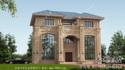 新农村复式三层欧式别墅设计图