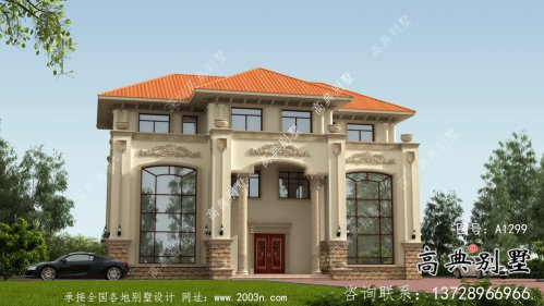 复式客厅框架结构三层别墅设计方案