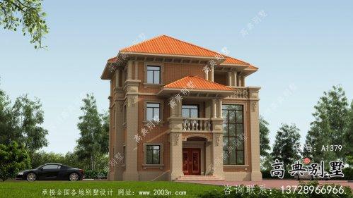 欧式古典复古时尚三层别墅设计图