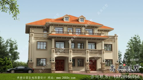 欧式风格,意大利风格三层别墅设计方案