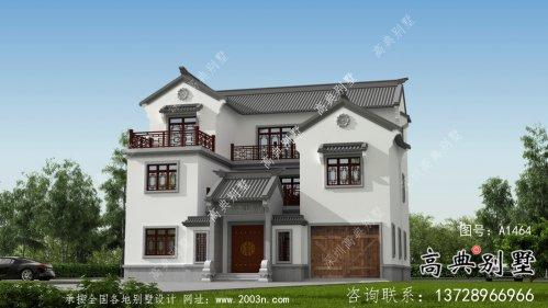 大型新中式三层别墅建筑方案设计带效果