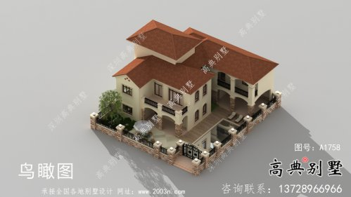 超豪华三层欧式别墅带院子设计图纸