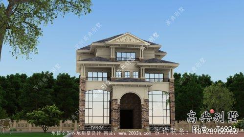 欧式风格四层别墅结构建筑设计图