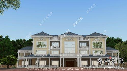 法式风格三层大户型欧式别墅设计效果图