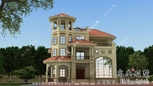 三层意大利风格住宅建筑设计方案图