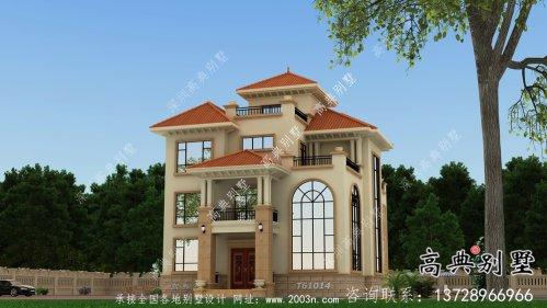 欧式风格三层复式别墅图纸及效果图