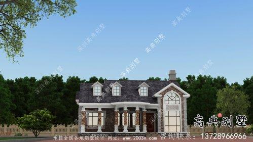 单层法式风格别墅房子设计图+效果图