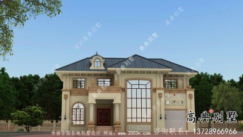 欧式二层别墅外观设计效果图大全