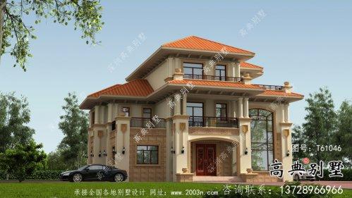 别致大方欧式风格三层别墅设计图纸