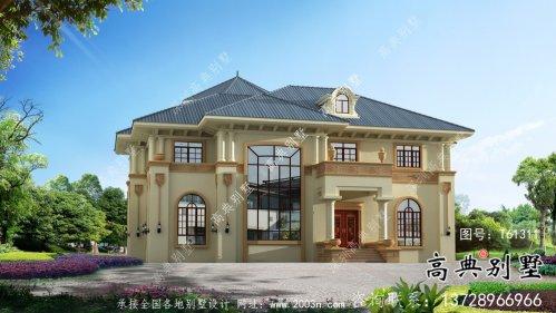 乡村复式二层欧式别墅设计图纸
