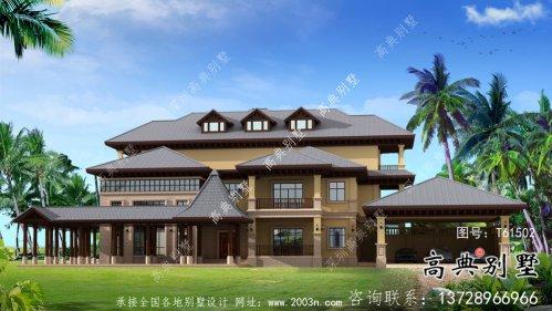 多卧室东南亚风格别墅建筑设计图
