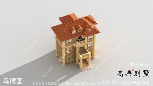 乡村欧式三层自建别墅效果施工设计全套