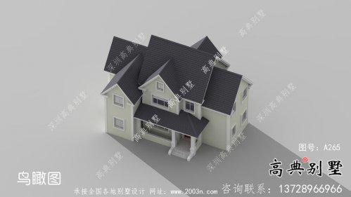 乡村二层简欧风格别墅设计图纸