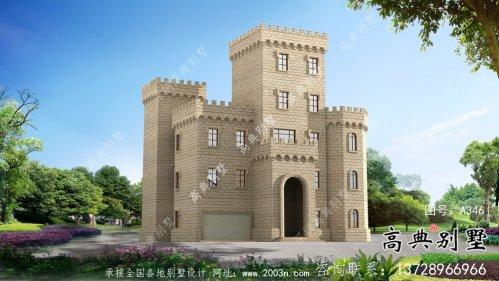 欧式五层城堡式别墅奢华别墅外观设计