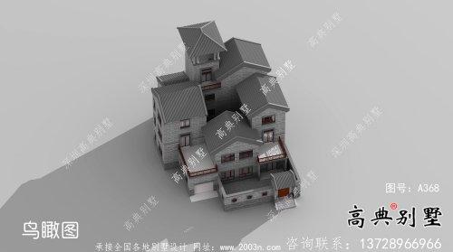 新中式三层庭院乡村别