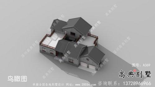 乡村一层新中式别墅设计图纸及平面设