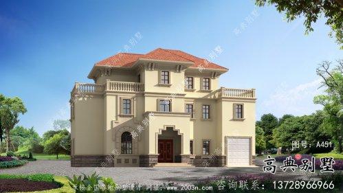 农村高档三层欧式别墅设计施工效果全套
