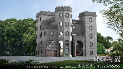 平屋顶中式城堡别墅,五层私人别墅设