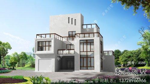 现代简约风四层别墅设计图纸及平面设