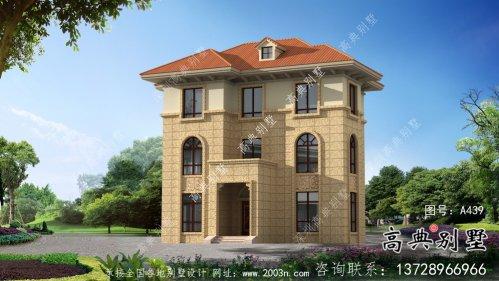 三层欧式风格独栋别墅设计图含构造图