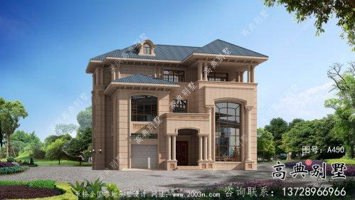 三层清爽带阳台复式别墅房型效果图