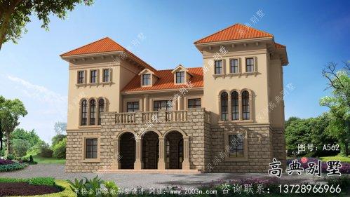 豪华框架结构三层欧式风格别墅设计