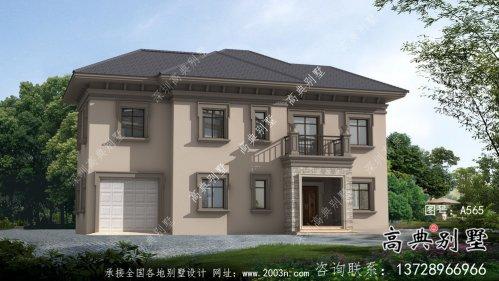 欧式风格两层经济别墅建筑图(带效果