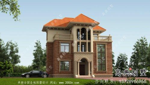 复式经典三层欧式别墅设计图纸