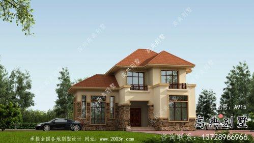欧式框架结构两层别墅设计图效果图